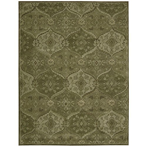 Nourison India House (IH88) Green Rectangle Area Rug, 8-Feet by 10-Feet 6-Inches (8' x 10'6'')