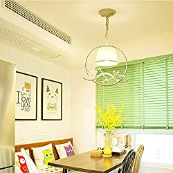 Pendant lights Simple Bird Country Chandeliers, Porch Bedroom Dining Room lamp (Color : Yellow Light, Edition : A)