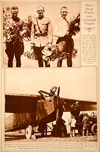 1923 Rotogravure Monoplane T-2 Oakley G. Kelly John A. Macready Historic Flight - Original - Oakley Corporate