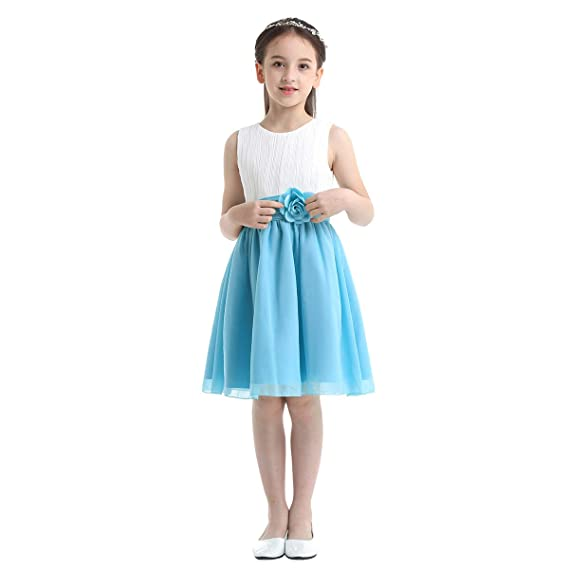 ranrann Vestido de Princesa Gasa para Niña Vestido Elegante ...