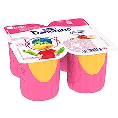 Danone Danonino Maxi, Fresas y Plátano, Pack 4 x 100 g: Amazon.es: Alimentación y bebidas