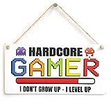 HARDCORE GAMER I DON'T GROW UP - I LEVEL UP - Colourful Gaming Gift