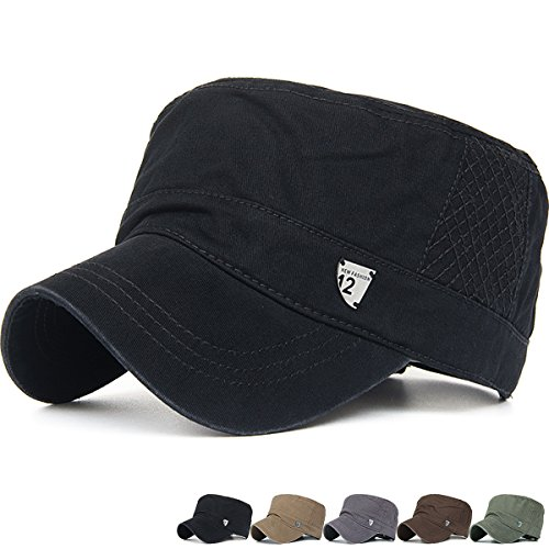 Old Style Baseball Cap - Rayna Fashion Unisex Adult Cadet Caps Military Hats Various Style and Colors