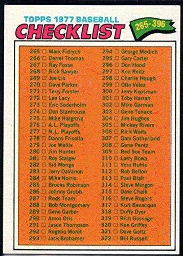 Checklist Baseball Topps (Baseball MLB 1977 Topps #356 Checklist 265-396)