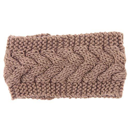 Crossword Halloween Wear (Victoria-show-headwear Winter Warmer Ear Knitted Headband Turban for Lady Women Crochet Bow Wide Stretch)