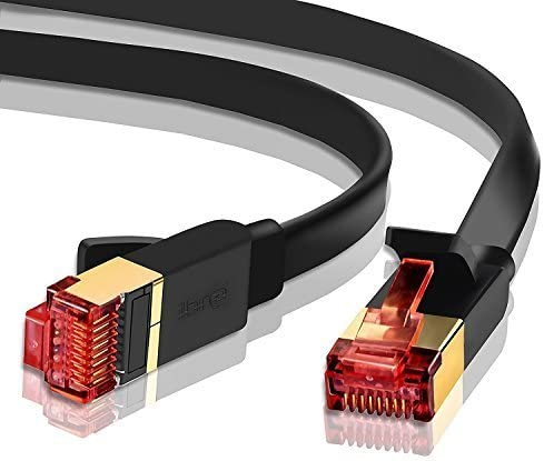 STP 10//100//1000Mbit//s Gold Plated Lead for Switch//Router//Modem 13ft//4M Ethernet Gigabit LAN Network Cable Supports Advanced CAT 7//6 // 5e // 5 High Speed RJ45 Patch Cord IBRA Flat White