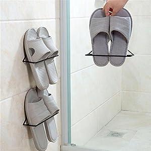 LtrottedJ Wall-Mounted Shoes Shelves Rack Storage Hanging Shoe ,Organizer Metal Shoe Rack