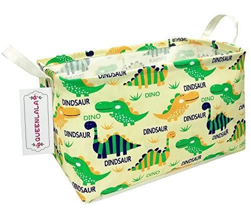 (HOUSESTORAGE Laundry Hamper Storage Bin Baskets Foldable Nursery Laundry Basket for Organizing Kids Toy Office Bedroom Toy Bin Closet Shelf Baskets Baby Hamper(Rec-Dinosaur) )