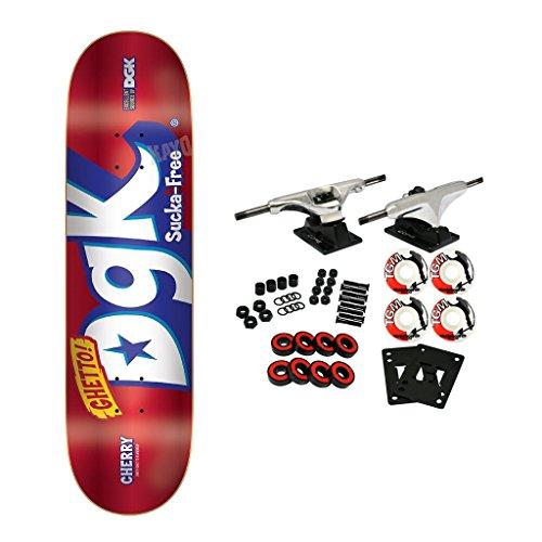 DGK Skateboard Complete Mix Up Foil Red 8.38