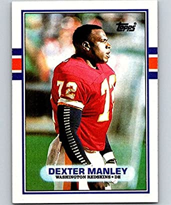 save off 67661 2c2c9 Amazon.com: 1989 Topps #262 Dexter Manley Redskins NFL ...