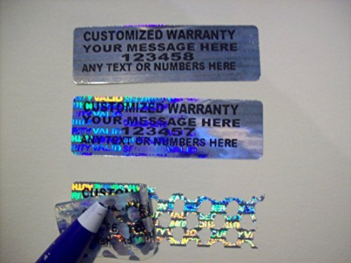 Security Hologram Warranty Custom Print 100pcs Void Label Stickers Signs Seals