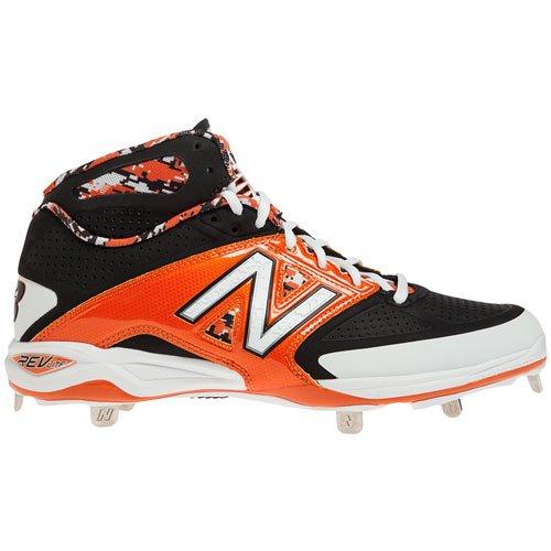 Amazon.com | New Balance Men's 4040V2 Mid Metal Baseball Cleats Black/Orange  2E 16 | Baseball & Softball