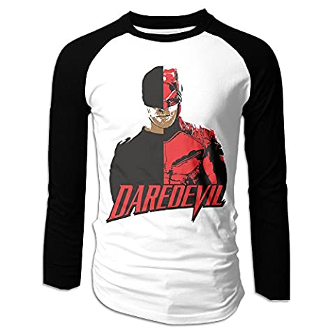 LOVEGIFTTO Mens Matt Murdock Daredevil Long Sleeve Comfort Raglan Tee Shirt Medium (Rebecca Murdock)