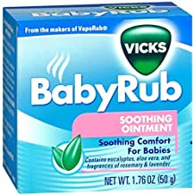 Special Pack of 5 VICKS BABY RUB 1.76 oz