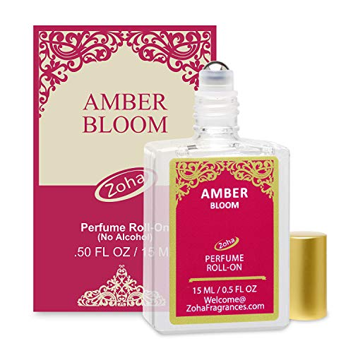 - Amber Bloom Perfume Oil Roll-On (No Alcohol) Amber Oil Fragrance - Essential Oils and Perfumes for Women and Men by Zoha Fragrances, 15 ml / 0.50 fl Oz