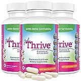 Just Thrive: Probiotic & Antioxidant Supplement - 3 Pack - 100% Spore-Based Probiotic - 1000x Better Survivability Than Leading Probiotics - Support Immune & Digestive Health - Vegan & Gluten Free