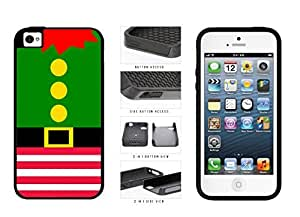 Cute Christmas Elf Suit 2-Piece Dual Layer Phone Case Back Cover Apple iPhone 4 4s