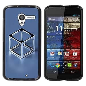 PC/Aluminum Funda Carcasa protectora para Motorola Moto X 1 1st GEN I XT1058 XT1053 XT1052 XT1056 XT1060 XT1055 Chrome Cube / JUSTGO PHONE PROTECTOR