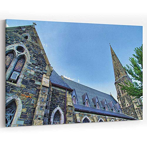 (Harvard Square Canvas Prints Wall Art for Modern Home Decor Stretched and Framed Ready to Hang)