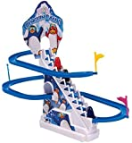 Sajani Dancing Penguin Twinkling Track Set with Lights (Multicolor)