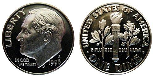 1996 S Roosevelt Proof Silver Dime 10c DCAM US Mint