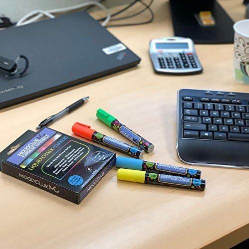 Amazon.com: 6 marcadores de tiza líquida de neón brillante ...
