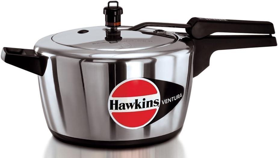 Hawkins Ventura Hard Anodised Black Base Pressure Cooker, 5.0-Litre