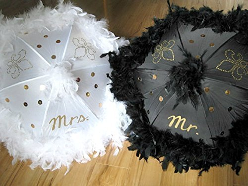 Amazon Com Second Line Wedding Umbrellas Mr And Mrs Set Of 2 New