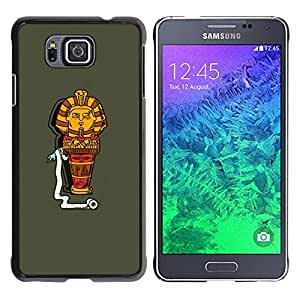 Paccase / SLIM PC / Aliminium Casa Carcasa Funda Case Cover para - Egypt Funny Cartoon Character Pharaoh - Samsung GALAXY ALPHA G850