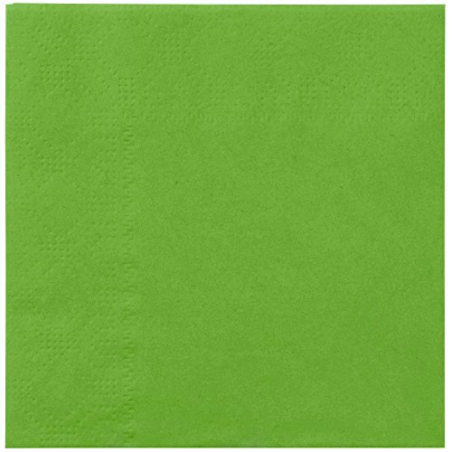 Hoffmaster 180361 Fresh Lime Green Beverage / Cocktail Napkin - 1000/Case by Hoffmaster