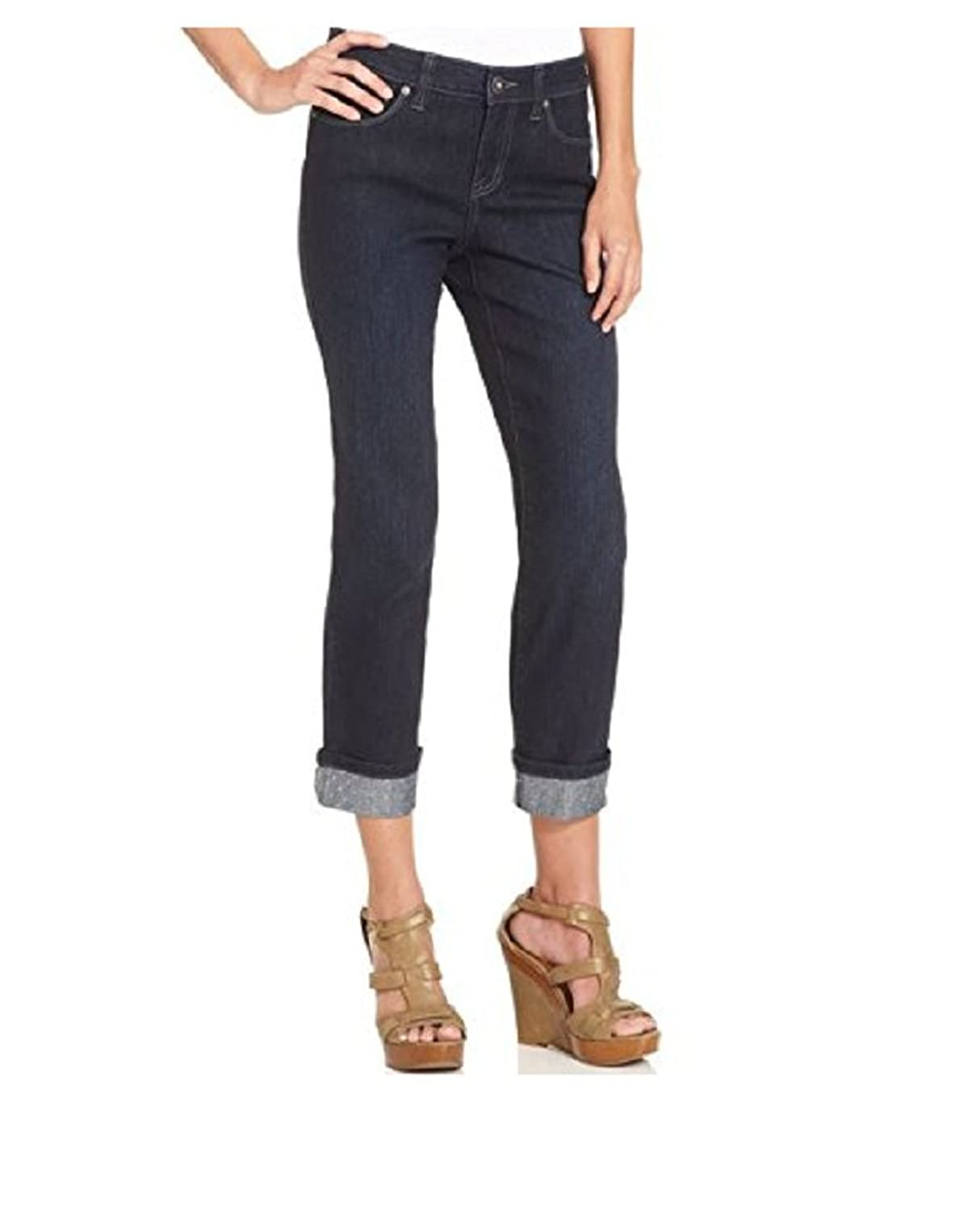Style And Co. Curvy Fit Embellished Jeans R Rinse