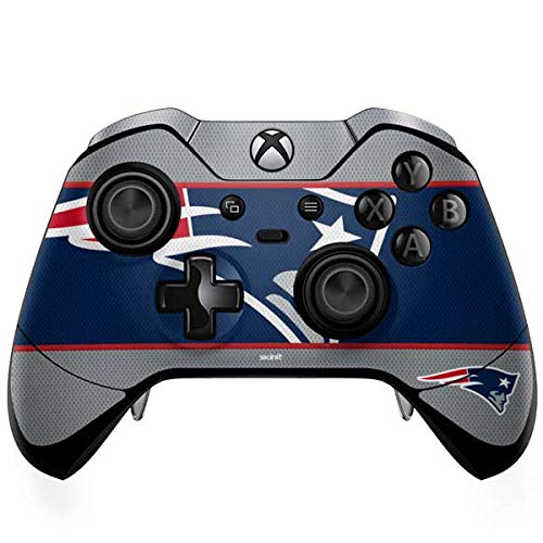 Skinit New England Patriots Zone Block Xbox One Elite Controller Skin - Officially Licensed NFL Gaming Decal - Ultra Thin, Lightweight Vinyl Decal Protection