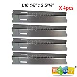 bbq factory® JPX2411(4-pack) Stainless Steel Heat Plate Replacement for Select Gas Grill Models By BBQ Grillware, Jenn-air and Others