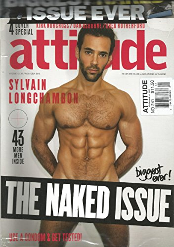 Attitude Magazine The Naked Issue (March 2014,Sylvain Longchambon Cover)