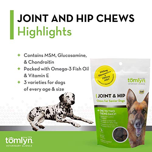 Tomlyn Joint & Hip Chews for Senior Dogs, 30ct