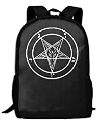 Satan Satanic Pentagram Interest Print Custom Unique Casual Backpack School Bag Travel Daypack Gift