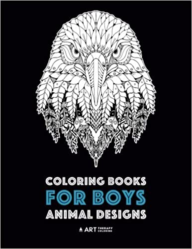Coloring Books for Boys: Animal Designs: Detailed Animal ...