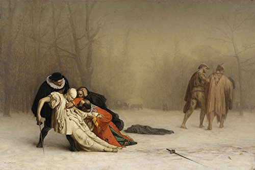 THE DUEL AFTER THE MASQUERADE COSTUME BALL FRENCH PAINTING BY JEAN LEON GEROME 16