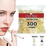 Cut-Nic Disposable Cigarette Filters - Bulk Economy Pack (300 Per Pack)