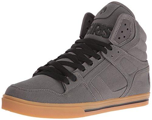 Chaussures de skate Osiris Clone pour homme Noir/noir/charbon de bois - gris - Charcoal/Gum,