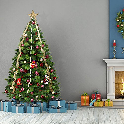 Green Norwegian Spruce Luxury Artificial Christmas Tree | 6.5 Ft Tall (195cm) 4ft Wide | Modern, Stylish & Contemporary Quality Xmas Trees (6.5 Tree Christmas Artificial Ft)