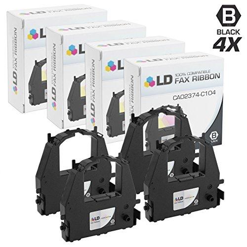 LD Compatible Printer Ribbon Cartridge Replacement for Fujitsu CA02374-C104 (Black, 4-Pack)