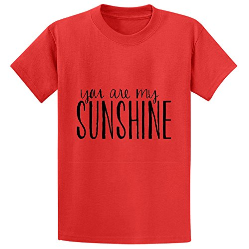 Chas You Are My Sunshine Typography Unisex Crew Neck Short Sleeve T Shirt Red