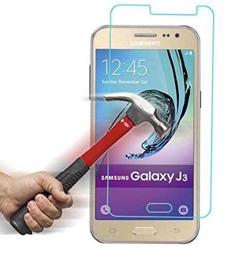 Dollar High Mint - Galaxy J3 / Express Prime / Amp Prime Premium Tempered Glass Screen Protector, Asstar High Definition (HD) Touch screen 0.3mm 2.5D for Samsung Galaxy J3 / Express Prime / Amp Prime (2-PACK)