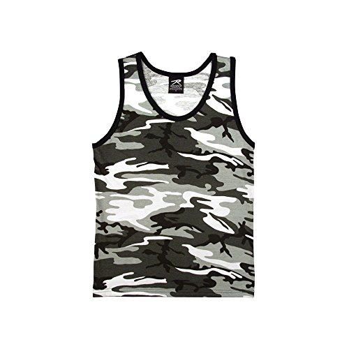 Top Mens Camouflage Tank - RC-6607-2XL-CITY Rothco Mens Tank Top - Camouflage, City Camo By Rothc