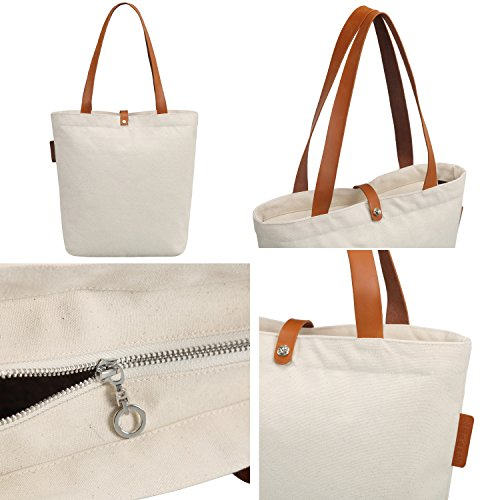 So'each Bolsa de tela y de playa, color natural (beige) - HBA-UK-ODI-79