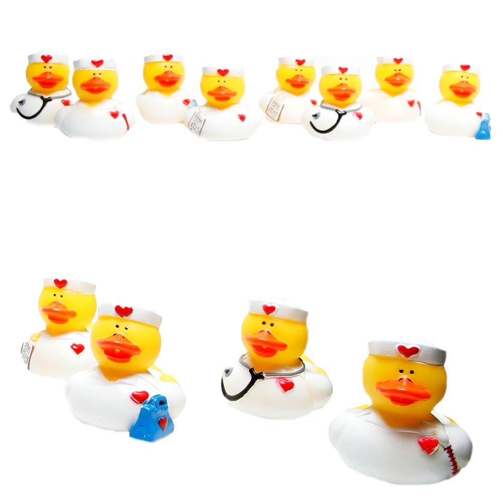 Character Toys 12 Pieces Everready First Aid FNEIN-16//841 Nurse Rubber Duckies Toys Fun Express Rubber Duckies
