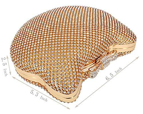 De Forma Cristal Rhinestone Embrague Del Oro Las La Nudo Tarde Mujeres Banquete Gato Monedero Bolso Arco IYHxwqCB