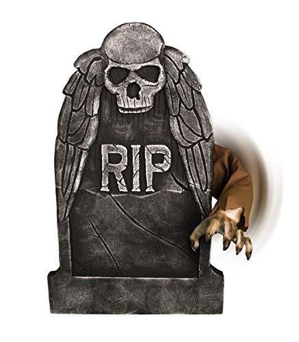Tekky Animated Reaching Arm Tombstone Halloween Prop]()