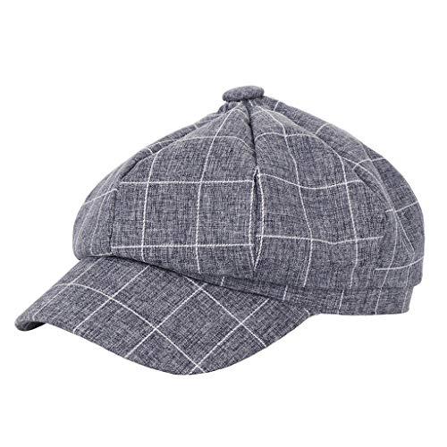 Discount Winter Wedding Favors - Yucode Fashion Casual Women Men Unisex Beret Hat Plaid Printed Baseball Cap Pink